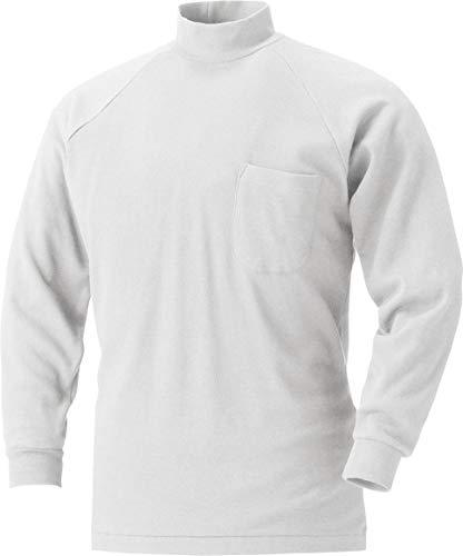 MK:201 綿100% よれにくい長袖ハイネックシャツ【 肌に優しい 通気性良い ポケ付 滑らかな肌触り 】