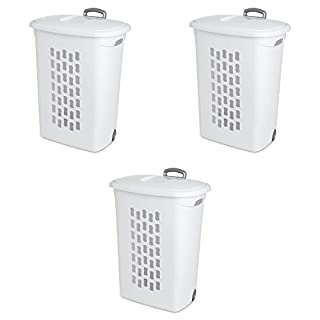Sterilite 12228003 Ultra Wheeled Hamper, White Lid & Base w/Titanium Handle & Wheels, 3-Pack (B001RCUN6G) | Amazon price tracker / tracking, Amazon price history charts, Amazon price watches, Amazon price drop alerts