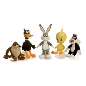 (Looney Tunes Huggable Set with Bugs Bunny, Daffy Duck, Taz, Tweety, and Sylvester 6 inch Toy Stuffed)