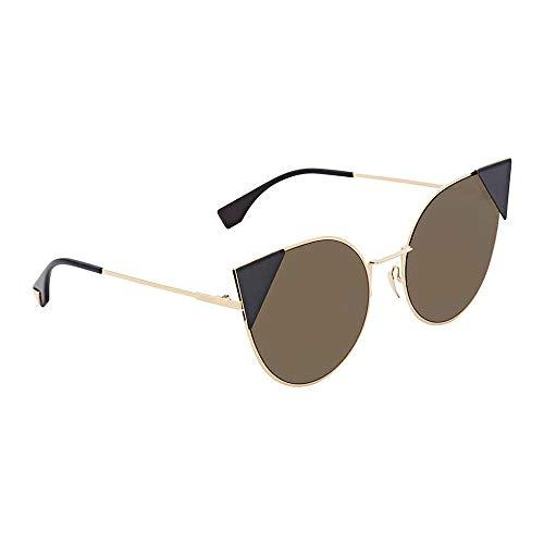 Fendi Women's Arrow Accent Sunglasses, Rose Gold Black/Black, One Size (Sonnenbrille 2018)