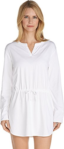 Coolibar UPF 50+ Women's seaboard Cover-Up - Sun Protective (X-Small- White)