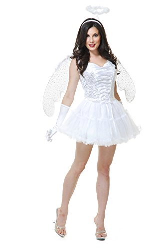 Charades Women's White Angel,
