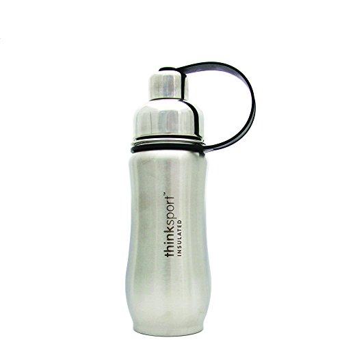 Thinksport Stainless Steel Sports Bottle, Silver