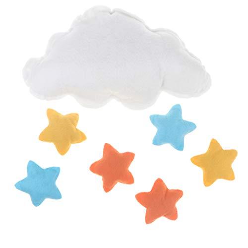 B Blesiya Cloud Stars Baby Nursery Garland Kids Room Birthday Party Halloween Decor by B Blesiya
