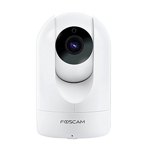Foscam Home Security Camera, R2 Full HD 1080P WiFi IP Camera with Real-time 1080P Video at 25FPS, Pan Tilt 8X Digital Zoom, Motion Detection & Alert, Optional Cloud Service Available, White