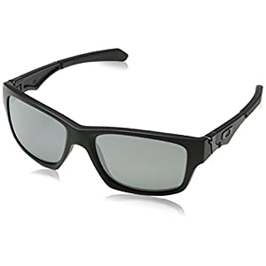 Oakley Men's Jupiter Polarized Square Sunglasses, Matte Black/Black Iridium Polarized,One Size 56mm