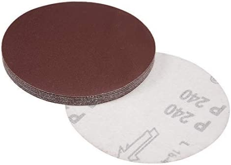 - 5 inch sanding disc, 240 grains, aluminum oxide sandpaper for 10 pieces sanders