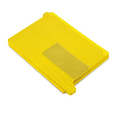 SMD61956 - Smead 61956 Yellow End Tab Poly Out Guides - Two-Pocket (Style Vinyl Tab Out Guides)