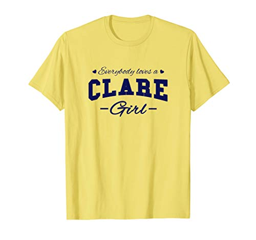 Everybody Loves a Clare Girl - Vintage Irish Souvenir T-Shirt (Everybody Loves An Irish Girl T Shirt)