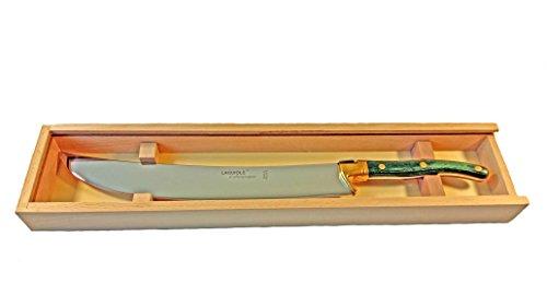 Laguiole Tradition 7012SA/65Champagnersäbel Edelstahl grün 44,5x 9,5x 4cm