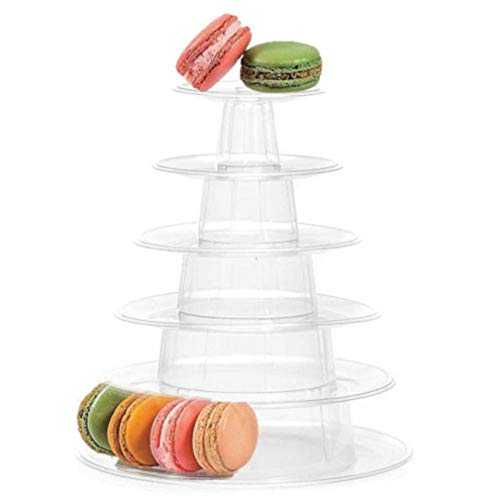 6 Tier Cupcake Holder Stand,Round Macaron Tower Stand,Clear Acrylic Cupcake Display Riser,Cake Display Rack for Wedding Birthday Party -