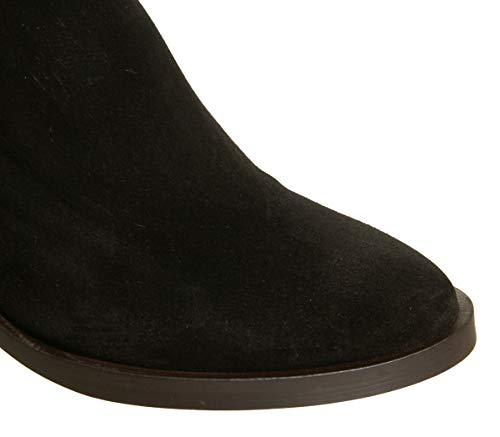 Brown Amalfi Zip Suede Boots Office Western Black Heel Back 4zHBBnW1