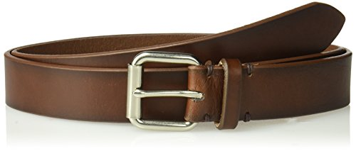 Dockers Men's 100% Leather Bridle Belt with Roller Buckle \-tan, ()