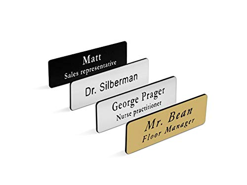 image about Dunder Mifflin Name Tag Printable known as Custom made Custom made Engraved Popularity Tag/Badge for Enterprise, with Magnet or Pin, Measurements 1x3 or 1.5x3 (1x3)