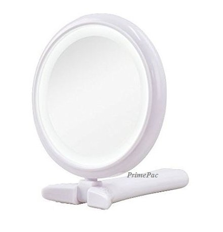 Free Standing Makeup Mirror And Hand Mirror Led