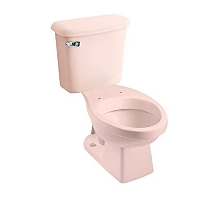 Peerless Pottery 7660-18 Hancock Vitreous China Elongated Toilet Kit with 12-in Rough, Venetian Pink