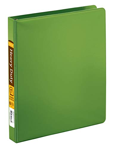 Office Depot Brand Heavy-Duty D-Ring Binder, 1' Rings, 59% Recycled, Army Green 1 Rings