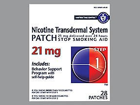 Habitrol Nicotine Transdermal System Patch 21 mg Step 1-28 ct, Pack of 5