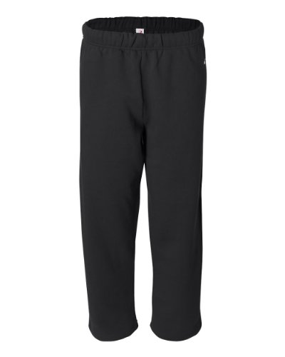 (Badger Adult Blended Open-Bottom Fleece Pants (Black))
