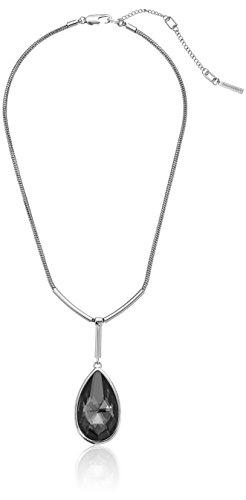 Kenneth Cole New York Black Diamond Teardrop Pendant Necklace (Pendant Teardrop Diamond)