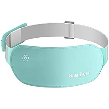 Granbest Portable Electric Heating Pad for Cramps, Lower Back Pain Relief USB Infrared Warming Waist Belt (Light Green)