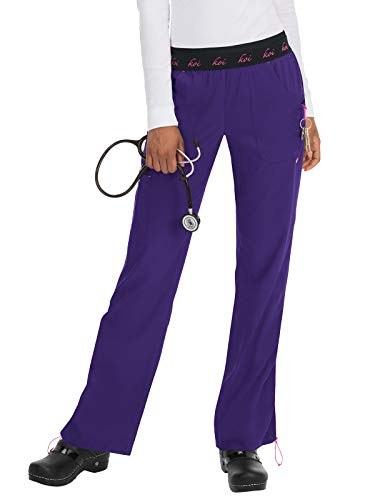 KOI lite Women's Spirit Scrub Pant Grape M
