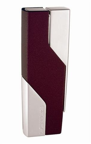 Lotus L1040 Dark Red Matte and Chrome Velour Torch Flame Lighter