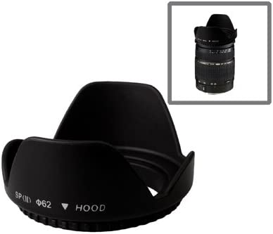 Screw Mount Black JIN Camera Accessory 62mm Lens Hood for Cameras Camera Lens Hood