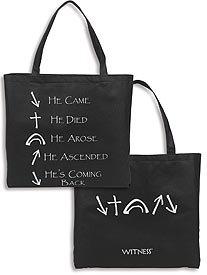 (Witness Black/White Tote Bag Primus Source,LLC Nylon ., Pack of 12)