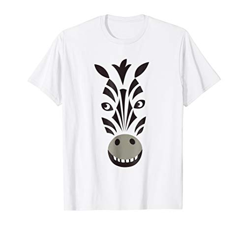 Halloween Funny Animal Zebra Face Costume Birthday Tee -