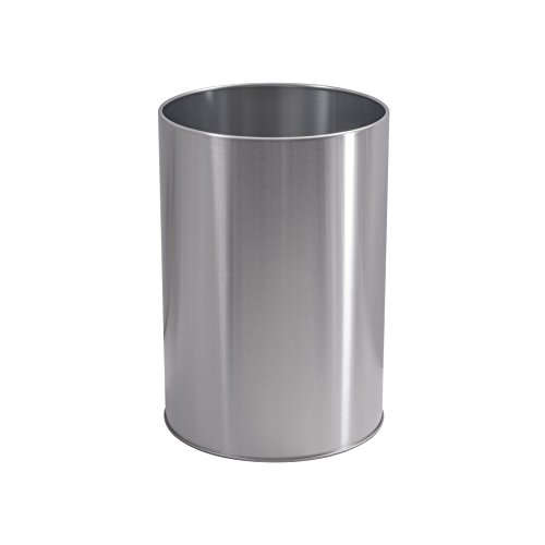 Nickel Trash Can (LDR 164 6400BN Ashton Waste Basket, Brushed Nickel)