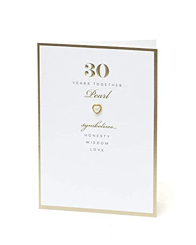 (30th Anniversary Card - Pearl 30 Years Together )