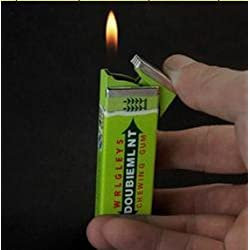 Refillable Tobacco Butane Lighter Mint Chewing Gum