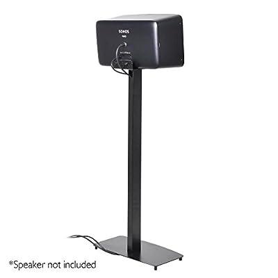 "Universal Sonos Speaker Mount Stand - Reinforced Steel 2nd Gen Play 5 Sonos Speaker Holder w/ 14.3 x 6.5 Inch Speaker Tray, Heavy Duty 14.5"" x 9.4"" Base, Powder Coat Finish - Pyle PSTNDSON17"