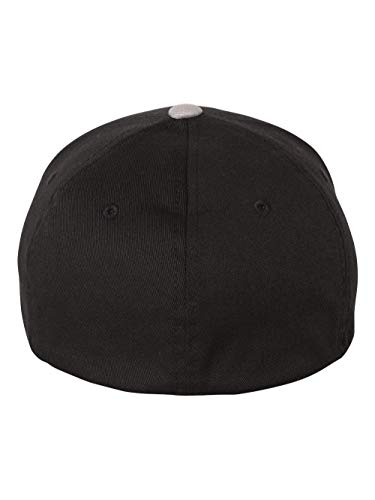 Flexfit Dark Grey Wooly Combed Stretchable Fitted Cap Kappe Baseballcap Basecap
