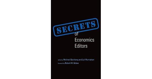 Amazon.com: Secrets of Economics Editors (The MIT Press ...