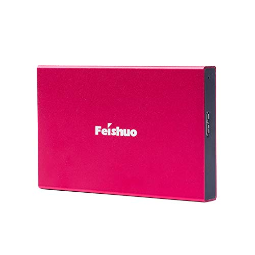 External Sata Storage - Portable External Hard Drive USB3.0 SATA HDD Storage (500G, Red)