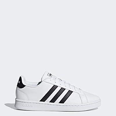 adidas Women's Grand Court Tennis Shoe, White/Black/White, 8.5 M US