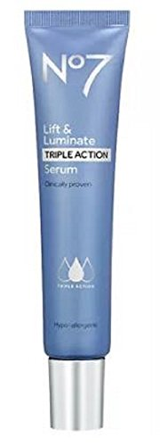 (No7 Lift & Luminate Triple Action Serum, 50 ml, Extra Large)