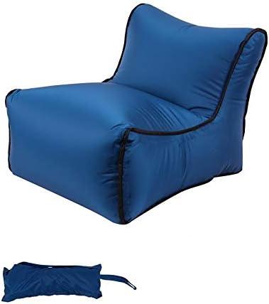 Sofá Inflable rápido para Exteriores, Saco de Dormir de Cama de Aire, sofá Perezoso con airbag Inflable, Bolsa de Playa portátil, Azul Marino, 35 * 35 * 50 cm: Amazon.es: Deportes y aire libre