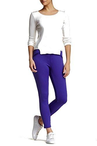 Hue Satin Jersey Skimmer Leggings (Large, Purple Reign) (Satin Skimmer)
