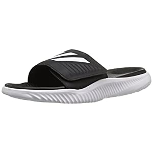 adidas Performance Men's Alphabounce BB Athletic Slide Sandals, White/Core Black/White, (10 M US)