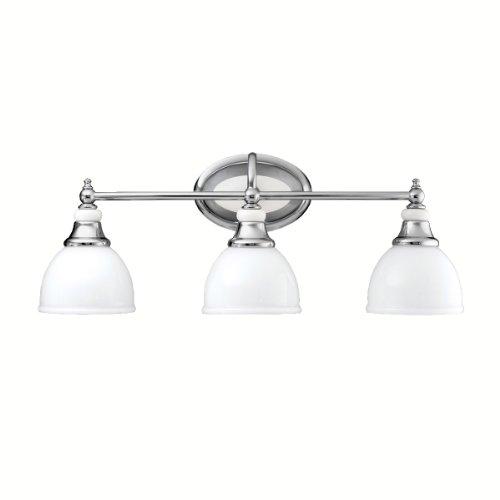 Kichler Bathroom Light, 3Light Bath Transitional Wall Sconce
