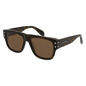 Sunglasses Alexander McQueen AM 0069 S- 004 HAVANA / BROWN