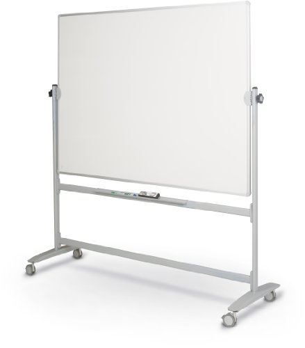 Best-Rite Lumina Rversible Mobile Dry Erase Whiteboard Easel, 4'H x 5'W Dura-Rite HPL Markerboard, Silver Frame (62383) by Best-Rite