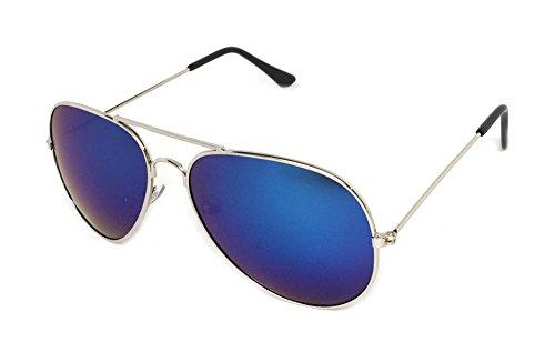 My Shades - Classic Aviator Sunglasses Silver Mirror Color Mirror Retro Metal Teardrop Fits Teens Adults Men Women (Silver, - For Men Inexpensive Sunglasses