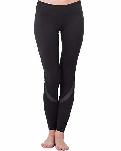 CFR Women's Yoga Pants High Waist Sport Skinny Leggings Sexy Mesh Stretch Fitness Trousers Style 3,M UPS (Skinny Mesh)