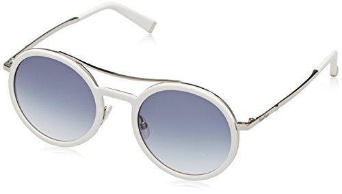 Max Mara Metal Round Sunglasses 49 0UJU White Light Gold U3 gray gradient - Mara 2017 Glasses Max