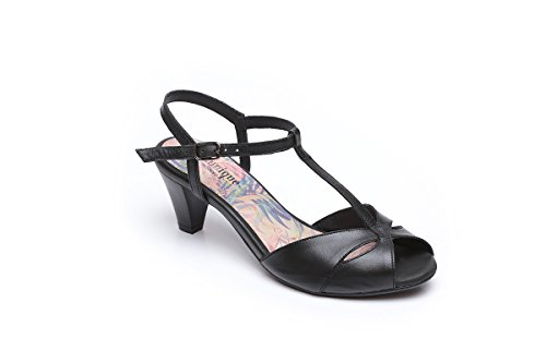B.Unique T Strap Hand Made Leather High Heel Sandals for Women 2.4 - Unique Heel High Sandals