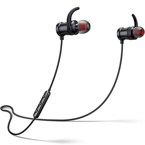 Bluetooth Headphones, Wireless Sports Magnetic in-Ear Earbuds, SANAG HD Stereo Wireless Earphone with Microphone, Suitable for Sports, Gym, Running, 8 Hours Continuous Playtime
